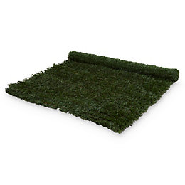 PVC & metal Green Artificial hedge screen (H)1.5m