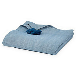 Rural Indigo Herringbone Plain Table cloth