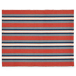 Blooma Blue, Grey & Red Placemat