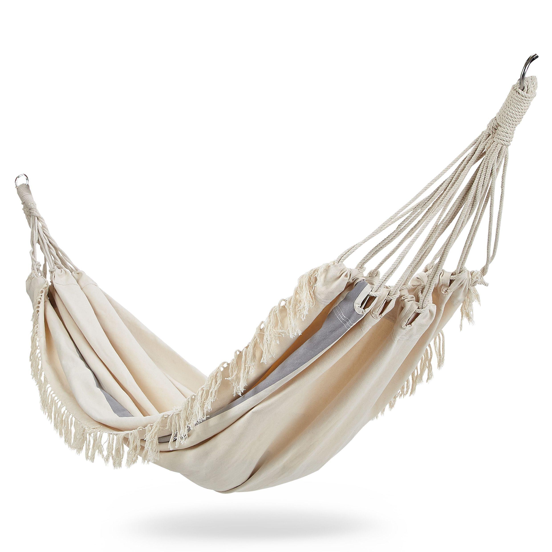blooma rural beige fringed hammock   departments   diy at b u0026q  rh   diy