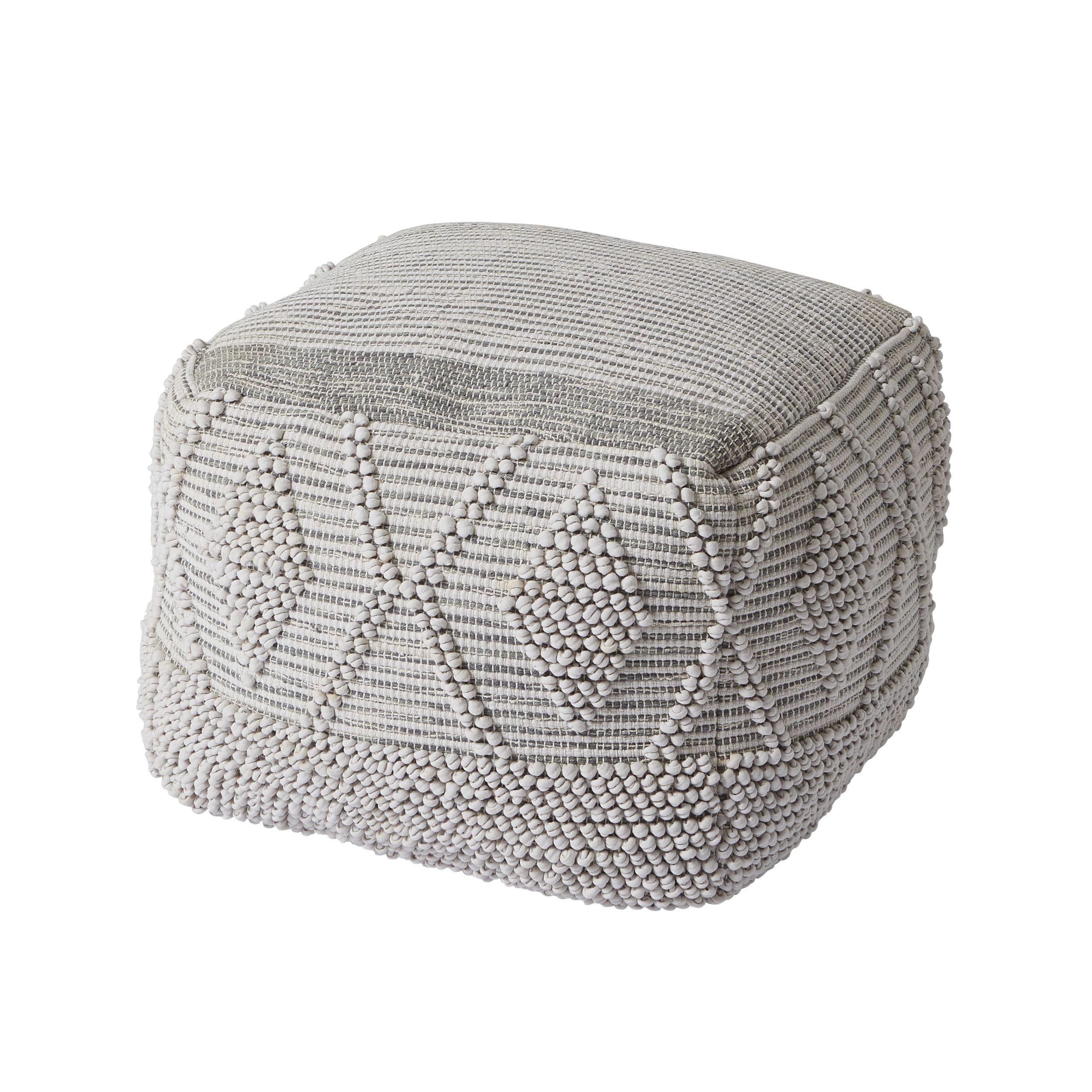 Magnificent Rural Crochet Stitch Grey Pouffe Departments Diy At Bq Short Links Chair Design For Home Short Linksinfo