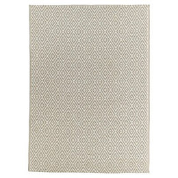 Blooma Rural Beige Geometric Outdoor rug (L)1.7m (W)1.2