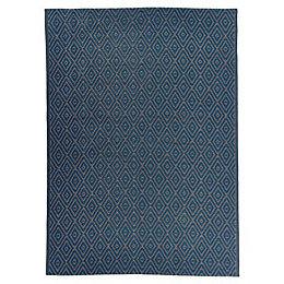 Blooma Rural Concrete & indigo Geometric Outdoor rug