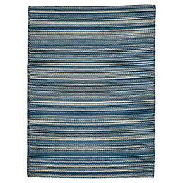 Blooma Rural Indigo Melange Outdoor rug (L)1.7m (W)1.2