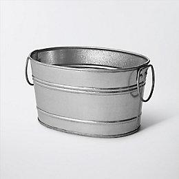 Rural Oval Metal Planter (H)130mm (L)250mm