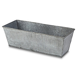 Rural Rectangular Metal Planter (H)130mm (L)410mm