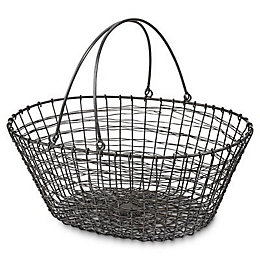 Blooma Galvanised Oval Steel wire Basket
