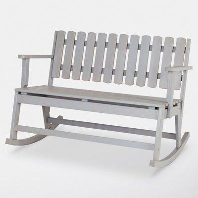 official photos 017fe ec08e Rural Grey Wooden Double rocking chair | Departments | DIY at B&Q