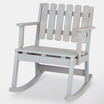Awesome Rural Grey Wooden Single Rocking Chair Departments Diy At Bq Lamtechconsult Wood Chair Design Ideas Lamtechconsultcom