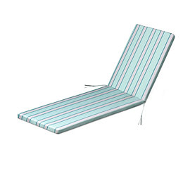 Isla Multicolour Striped Sunlounger Cushion