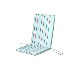 Isla Multicolour Striped High Back Seat Cushion