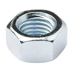 Diall M18 Carbon steel Hex lock nut, Pack