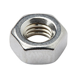 Diall M6 Stainless steel Hex lock nut, Pack