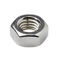 Diall M8 Stainless steel Hex lock nut, Pack
