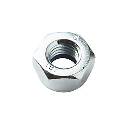 Diall M5 Carbon steel Hex cap nut, Pack