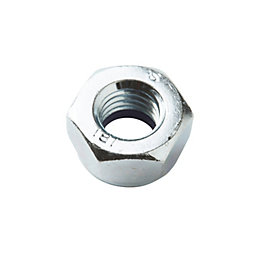 Diall M10 Carbon steel Hex cap nut, Pack