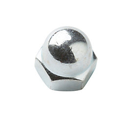 Diall M5 Steel Zinc Plated Cap Nut, Pack