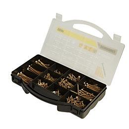TurboDrive Yellow zinc plated Steel Wood screw, Pack