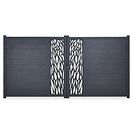 Blooma Aluminium Gate (H)1.7m (W)3 m