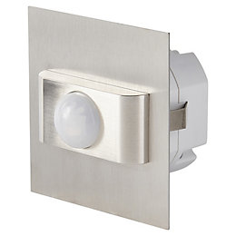 Hayden Silver effect Floor light Motion Sensor