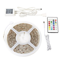 Colours Driggs Mains powered LED Strip light (L)5000mm