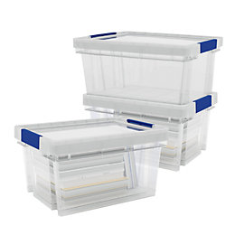 Xago Strong & robust Clear 51L Plastic Stackable
