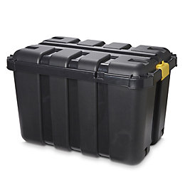 Skyda Heavy duty Black 149L Plastic Nestable Storage