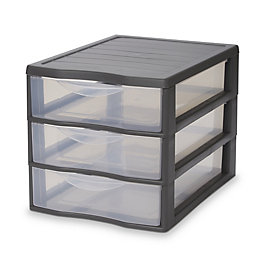 Kontor Clear & grey 45L Stackable Foldable 3