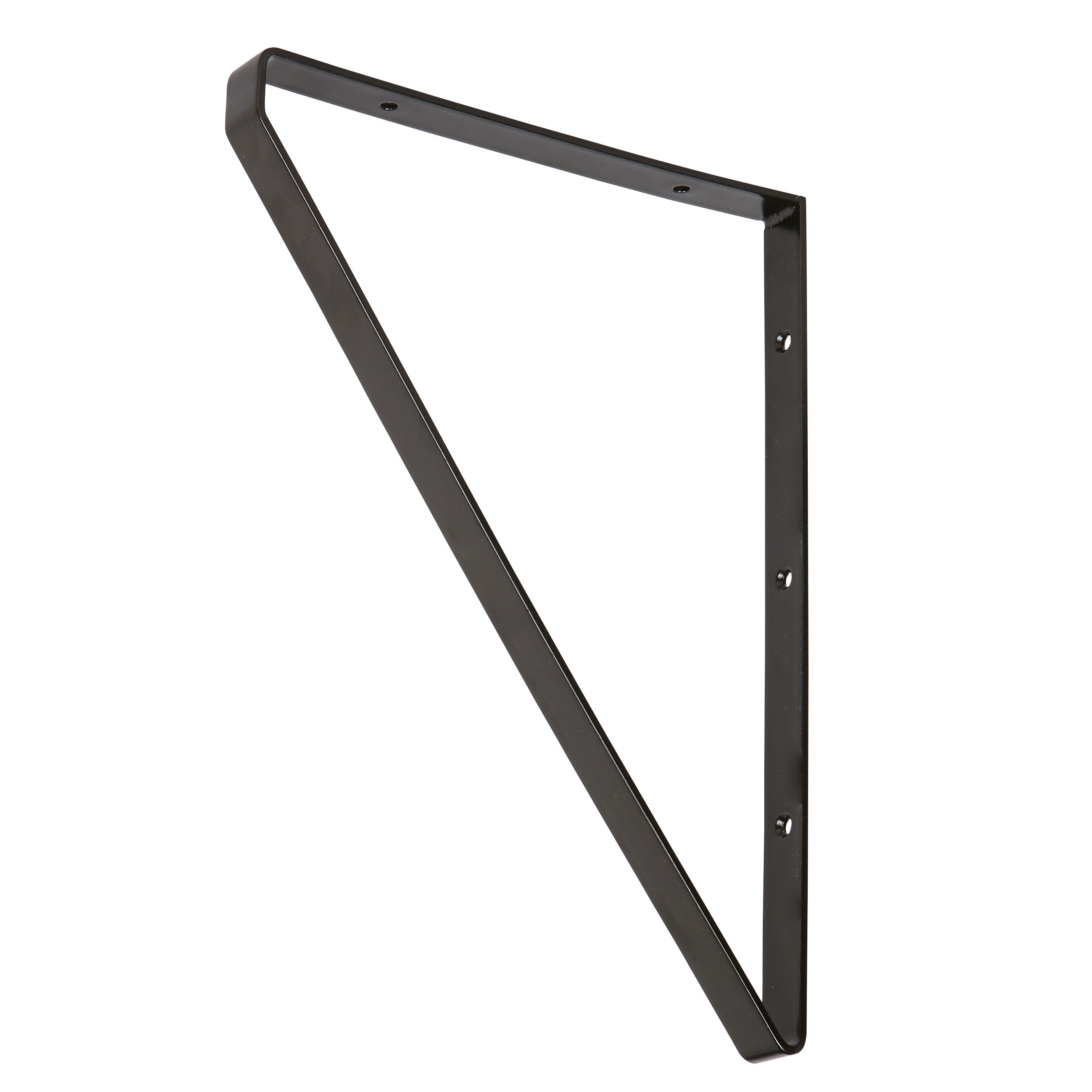 Form Clever Black Steel Shelf bracket (D)200mm | Departments | DIY at B&Q