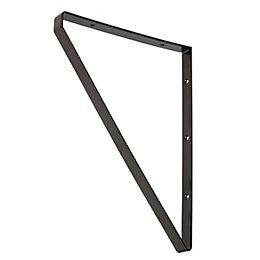 Form Clever Black Steel Shelf bracket (D)200mm