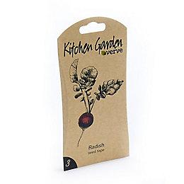 Verve Kitchen garden Radish Seed tape