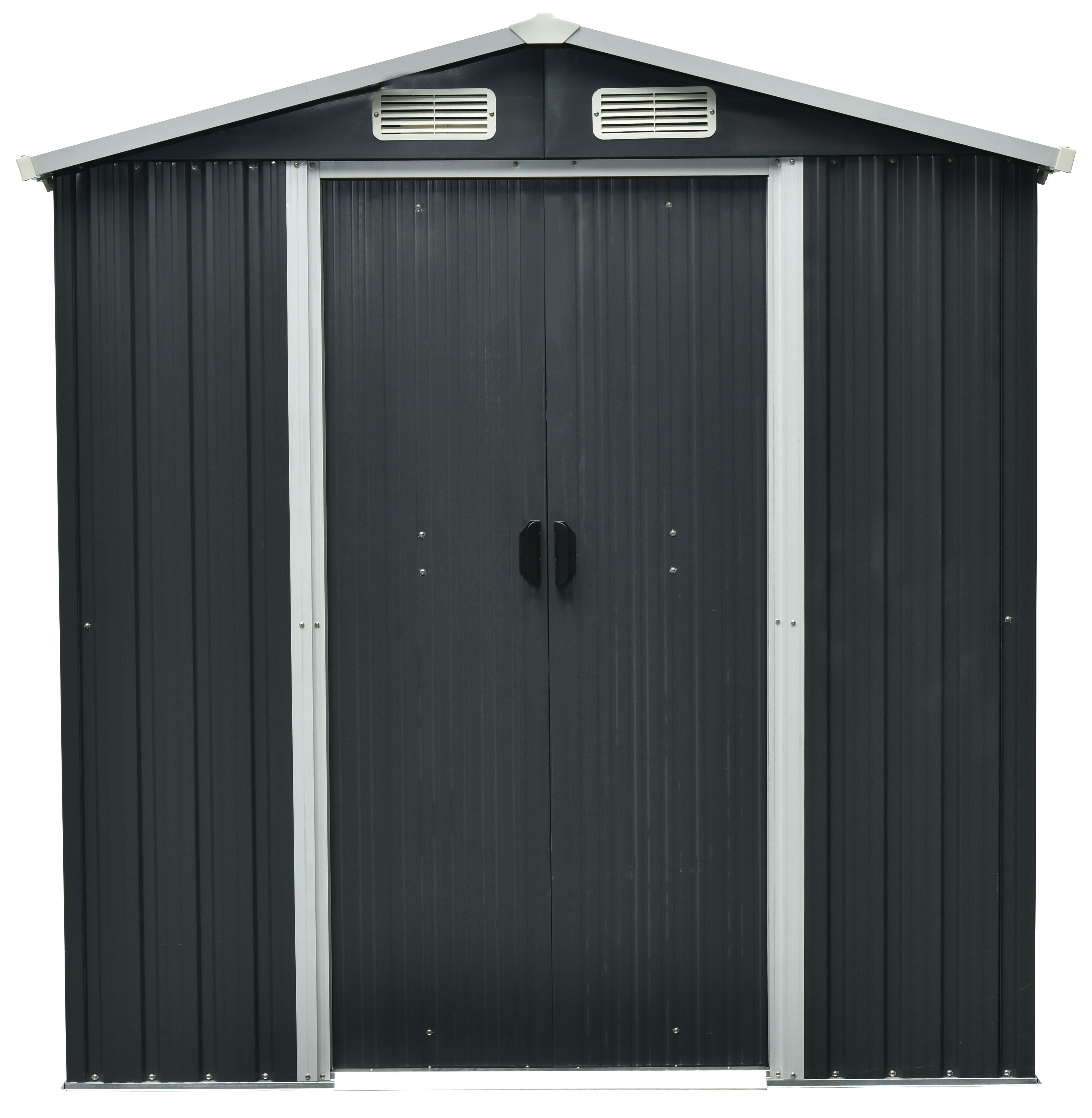 6x3 Rough Surface Apex Roof Drop Forged Metal Shed