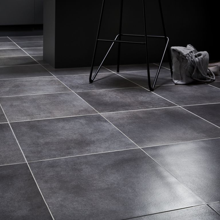 Konkrete Grey Concrete effect Modern Porcelain Floor tile,