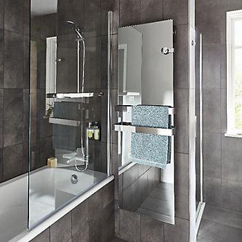 Cooke & Lewis nubia Straight single panel Bath screen