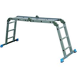 Mac Allister Folding 4-way 12 tread Combination ladder