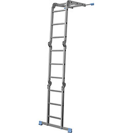 Mac Allister Folding 3-way 12 tread Combination ladder
