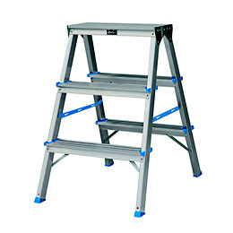 B&Q 3 tread Aluminium Stepladder, 0.65m