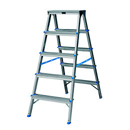 B&Q 5 tread Aluminium Stepladder, 1.08m