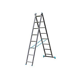 B&Q X-tension Double 2-way 8 tread Combination ladder