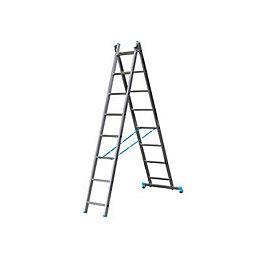 B&Q X-tension Double 2-way 8 tread Combination ladder