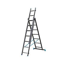 B&Q X-tension Triple 3-way 7 tread Combination ladder