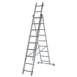 Mac Allister Double 3-Way 27 tread Combination ladder