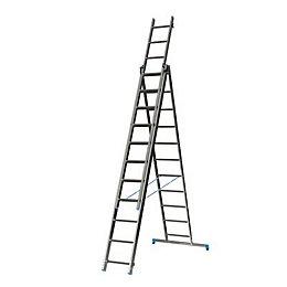 Mac Allister Double 3-Way 33 tread Combination ladder