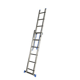 Mac Allister Double 3-Way 12 tread Combination ladder