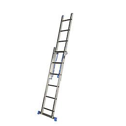 Mac Allister Double 3-Way 12 tread Combination ladder