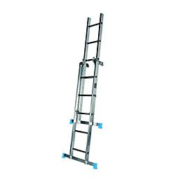 Mac Allister Double 3-Way 11 tread Multipurpose ladder