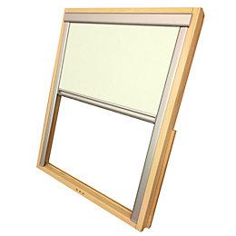 Site Beige Blackout roof window blind (H)780mm (W)550mm