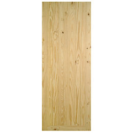 Framed Pine effect Unglazed Front door, (H)1981mm (W)762mm
