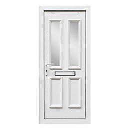 4 panel White PVCu Glazed External Front door