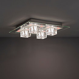 Fema Chrome Effect 4 Lamp Ceiling Light